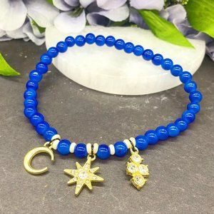 Jewelry - Star and moon charm blue anklet